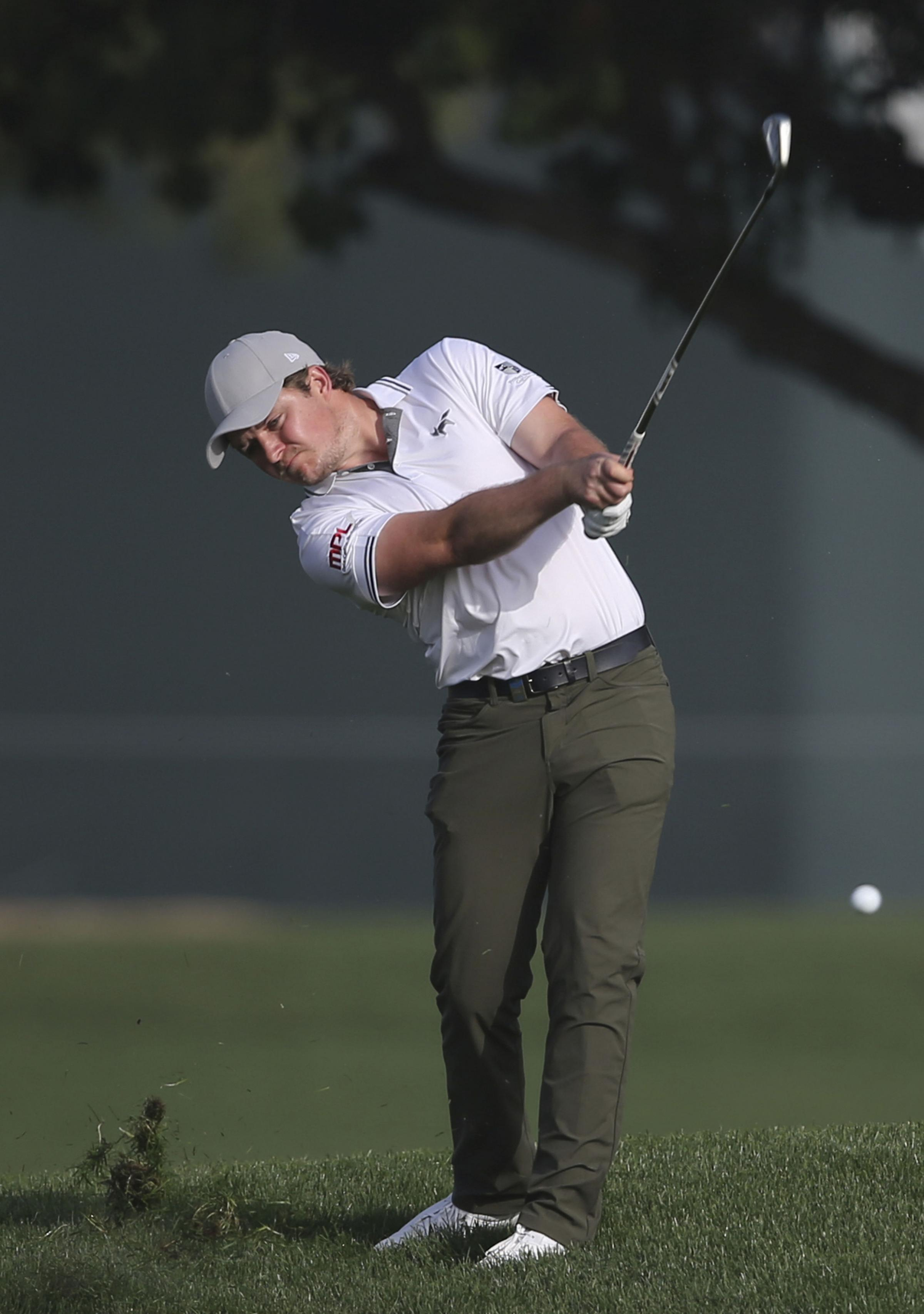 Eddie Pepperell produced steady second round Picture: AP Photo/Kamran Jebreili