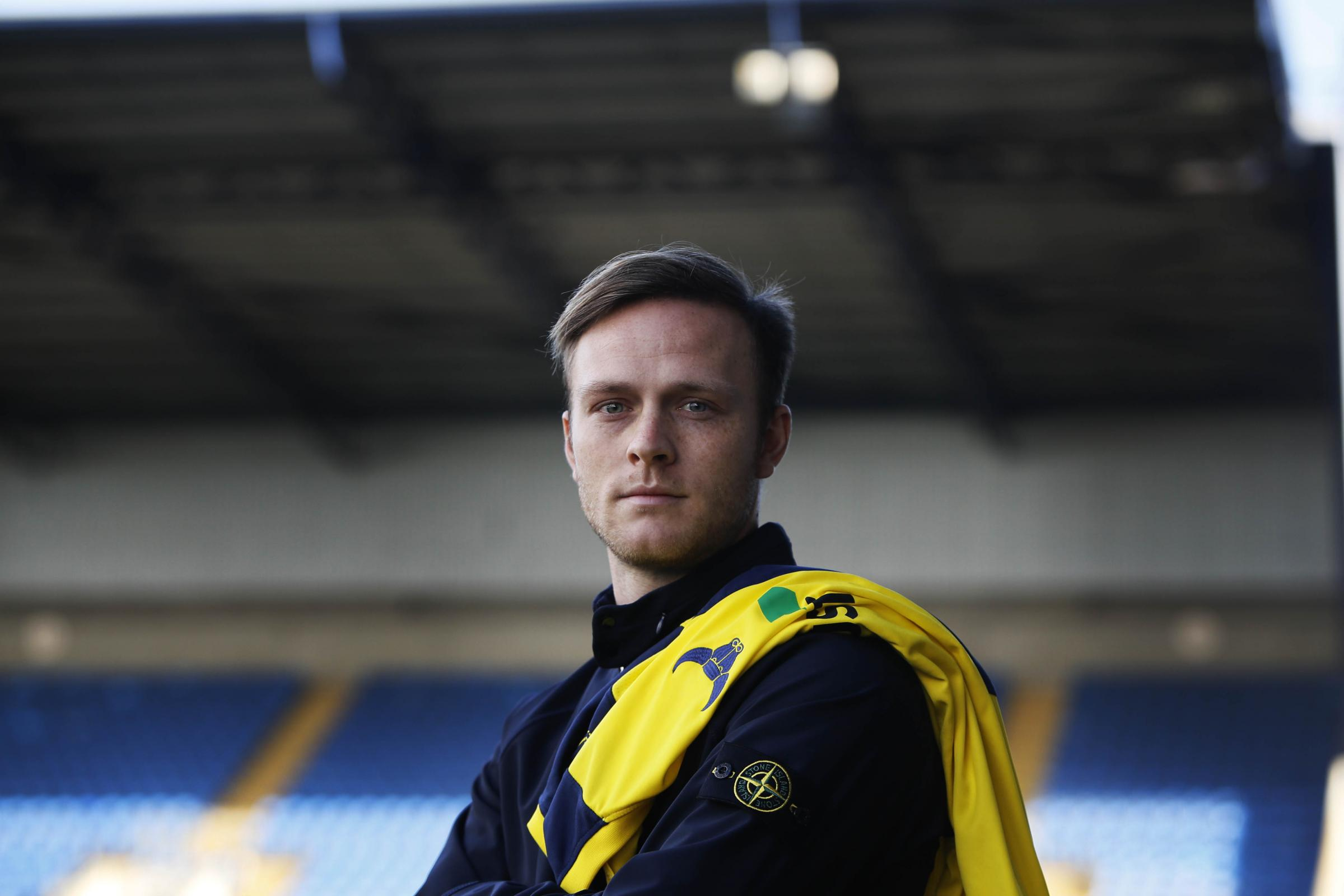 Todd Kane at the Kassam Stadium after signing for Oxford United this afternoon  Picture: Ed Nix