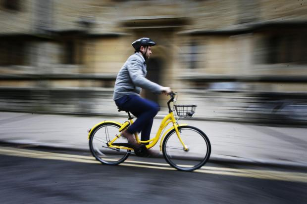 Oxford Mail: Ofo bikes arrive in Oxford - reporter Callum Keown takes one for a test ride..21.8.2017.Picture by Ed Nix.