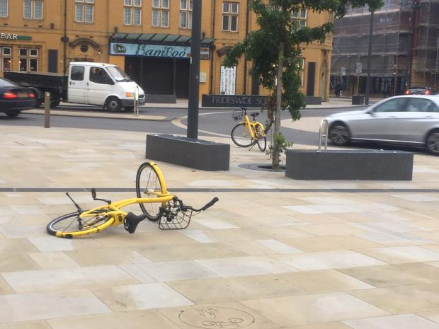Oxford Mail: Ofo bike in Frideswide Square