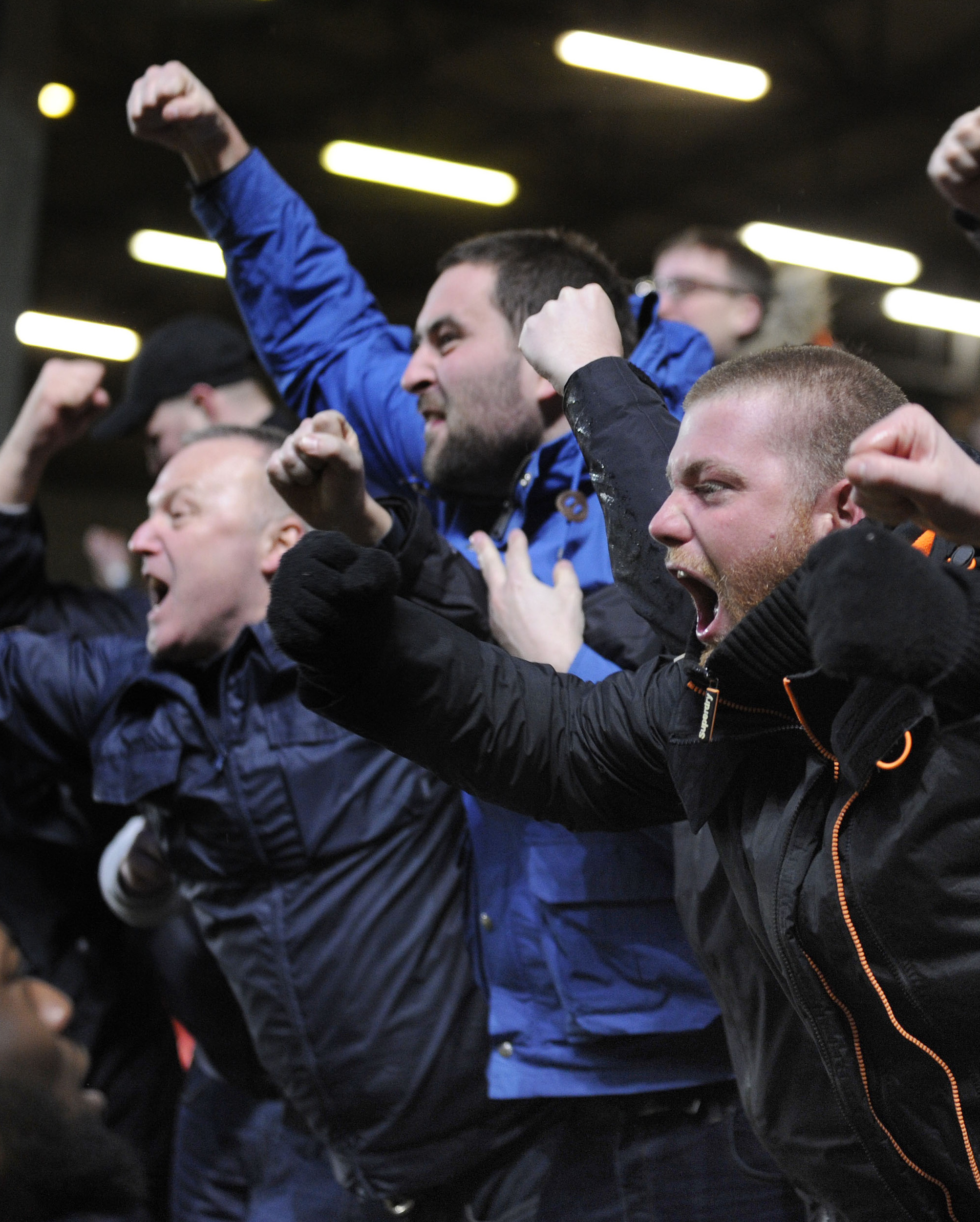 EUPHORIA: Oxford United supporters react to Ryan Ledson's late winner at Charlton  Picture: David Fleming