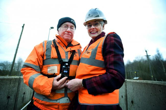 Dix Pit waste and recycling centre worker Martyn Barnes with Oxfordshire County Council cabinet member for Enviroment and Economy Yvonne Constance. Picture: Richard Cave