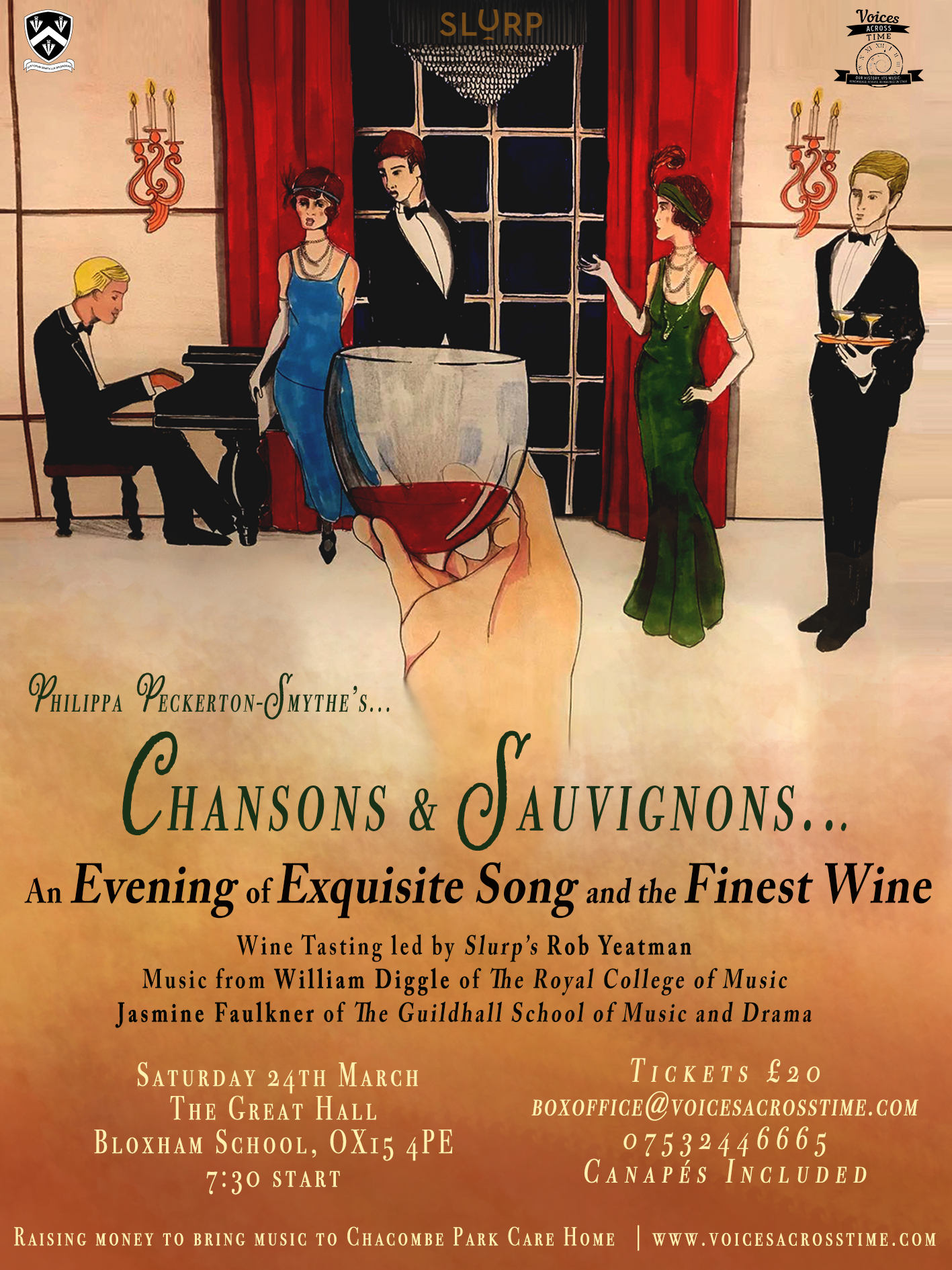 Wine Tasting and Song Evening: 'Chansons & Sauvignons'