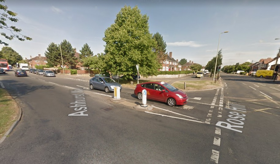 Rose Hill and Ashhurst Way junction. Pic: Google Street View