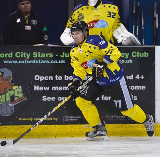 Darren Elliott in action for Oxford City Stars against Cardiff Fire