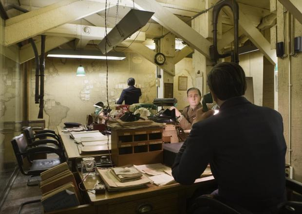 Oxford Mail: The Map Room at CWR. Shot for Film Location. Photgraphed 7th October 2009.