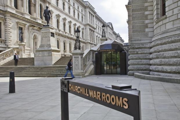 Oxford Mail: Exterior view of Churchill War Rooms. Photographed 14th June 2012