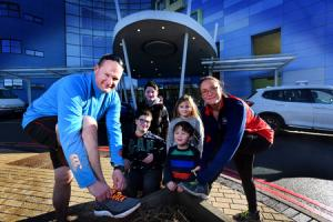 Parents vow to run the OX5 after children's hospital saved their twins - sign up here