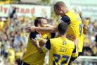 FLASHBACK: James Constable celebrates scoring for Oxford United against Swindon Town at the County Ground in 2011 Picture: David Fleming