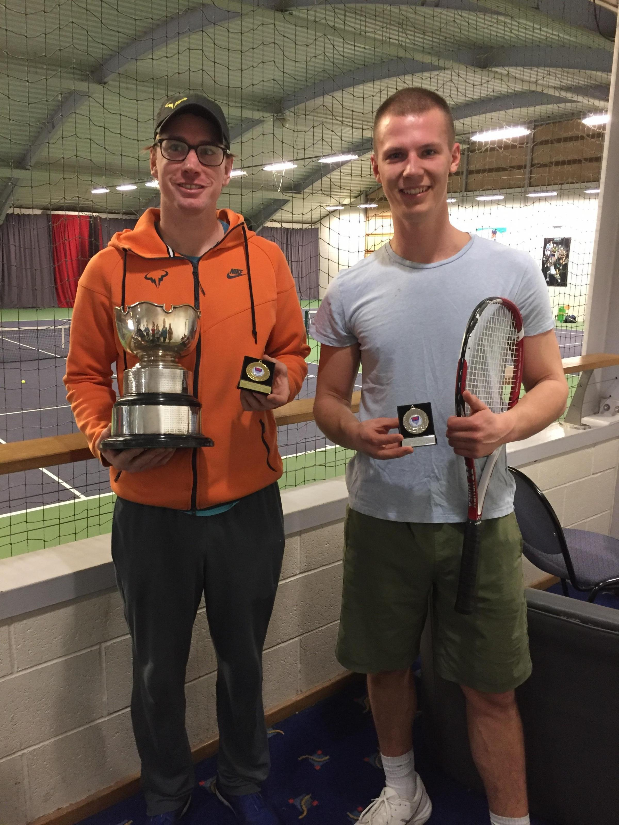 Jack Rooney (left) and Bobby Gosling who fought out the men's open singles final
