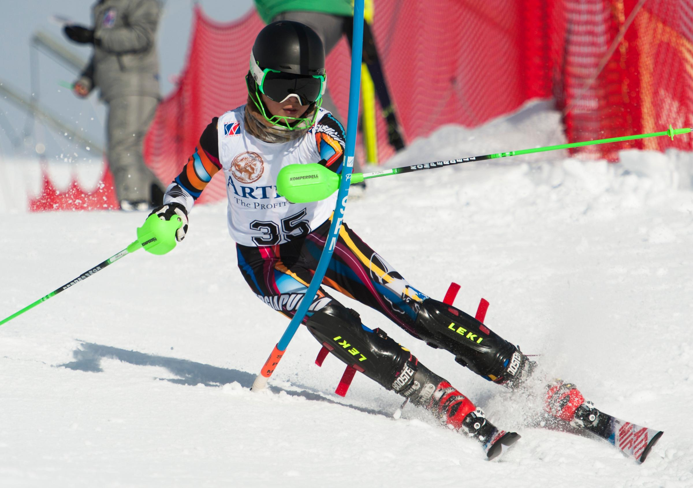 YUNG TALENT: Oxford's Adrian Yung shines on the slopes in Italy