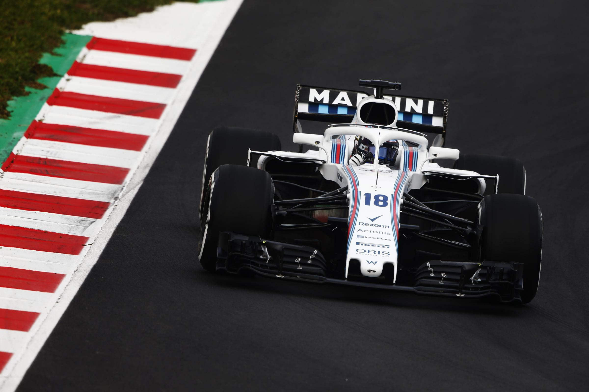 BACK TO BUSINESS: Williams driver Lance Stroll puts the FW41 through its paces during the first day of testing at the Circuit de Catalunya in Barcelona, admitting he has high expectations in 2018 Picture: Andy Hone/Williams F1