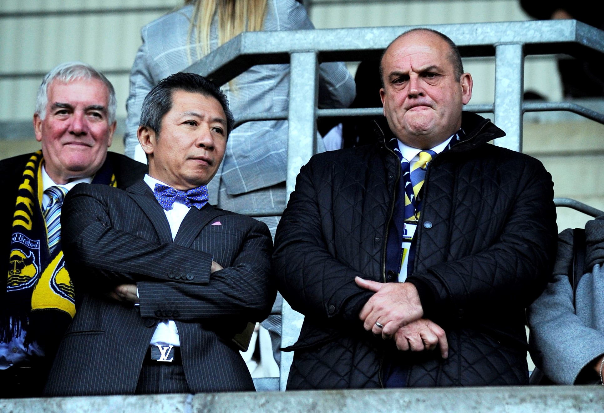 Steve Dolton (right) with Sumrith Thanakarnjanasuth at an Oxford United game in October  Picture: David Fleming