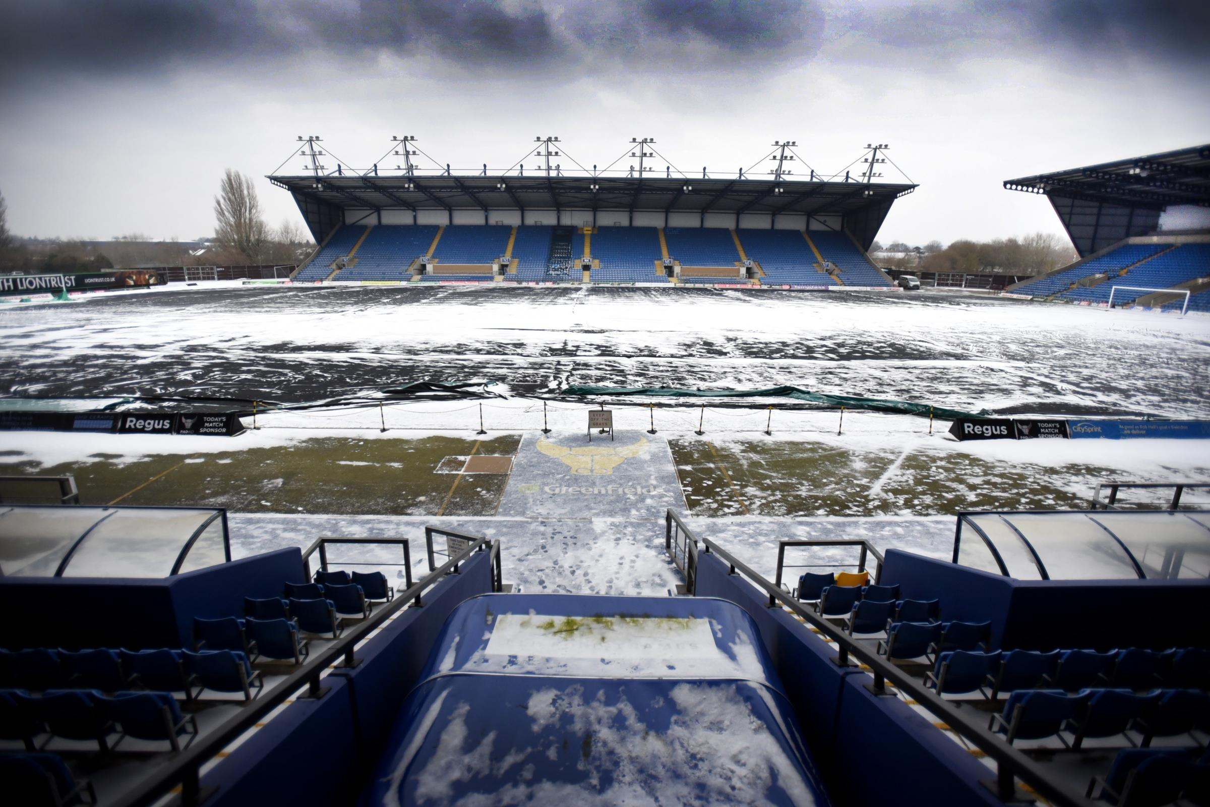 The scene at the Kassam Stadium today  Picture: Richard Cave