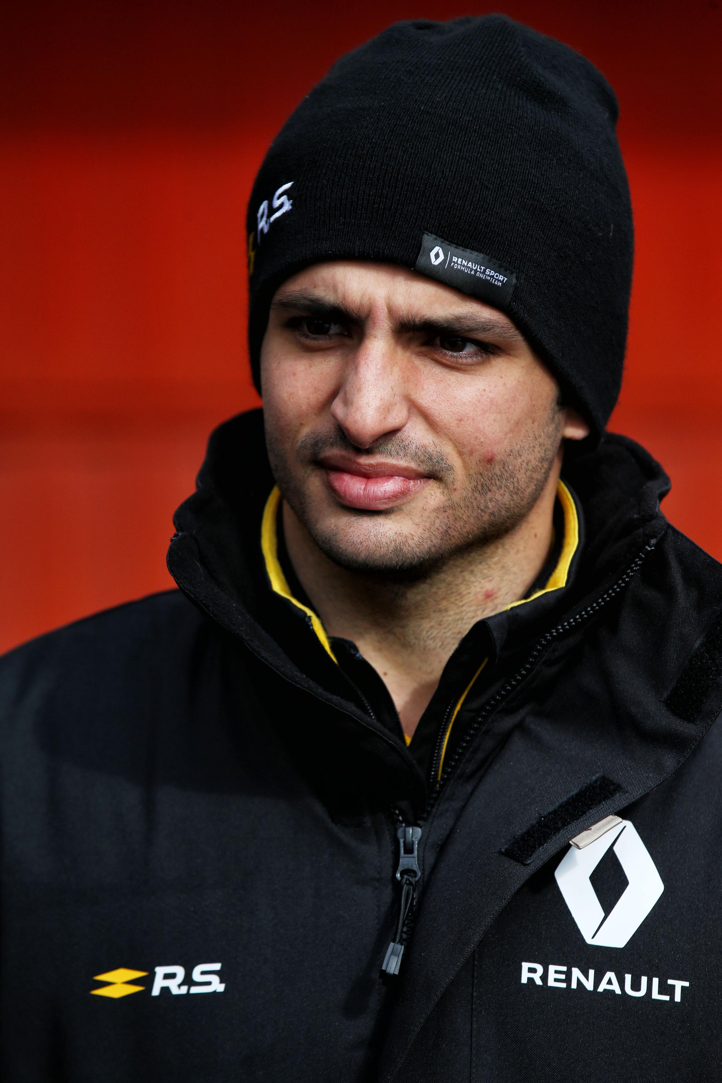 CHILLY: Renault driver Carlos Sainz at last week's test Picture: XPB/James Moy Photography Ltd