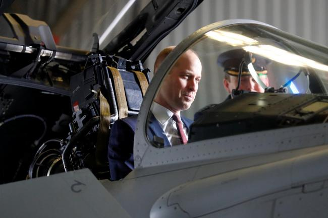 William climbs into cockpit to take the controls of RAF