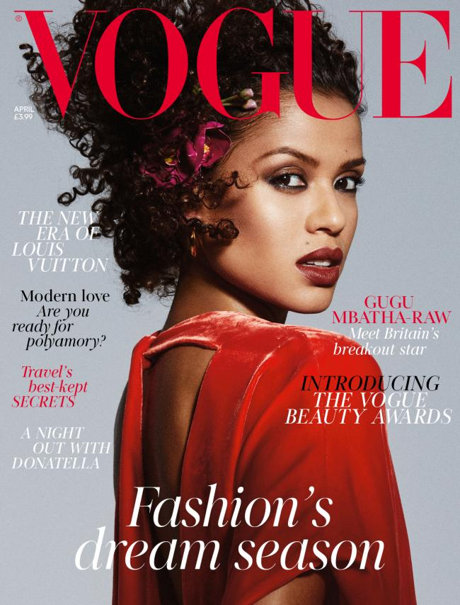 witney actress gugu mbatha raw graces front cover of vogue oxford mail