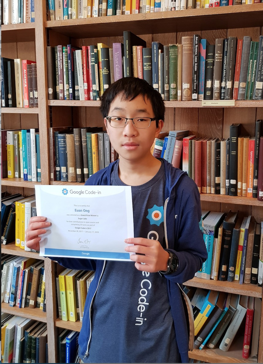 Google Code-In winner Euan Ong