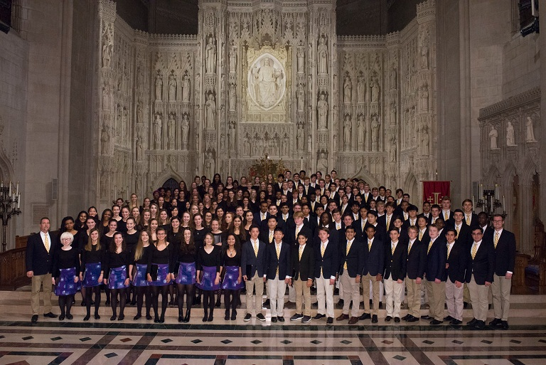 Lunchtime Concert of THE CHORALE FROM ST ALBANS SCHOOL & NATIONAL CATHEDRAL SCHOOL  from Washington, D.C., USA