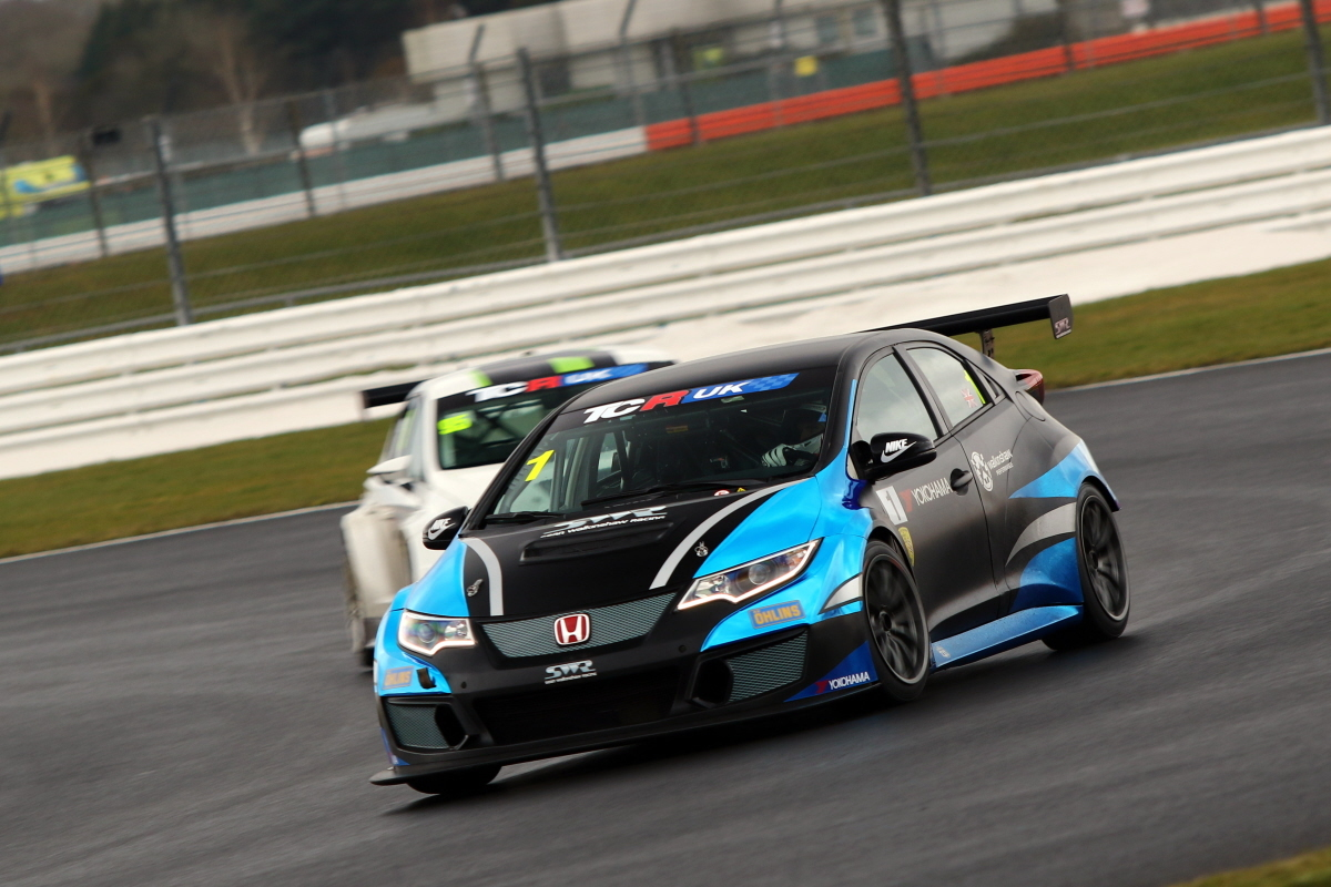 SPEED: Sean Walkinshaw during the first TCR UK Championship test Picture: Matt Sayle