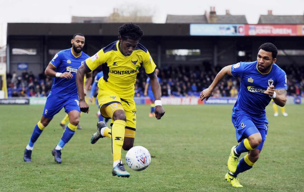 Isaac Buckley-Ricketts on the attack for Oxford United  Picture: David Fleming