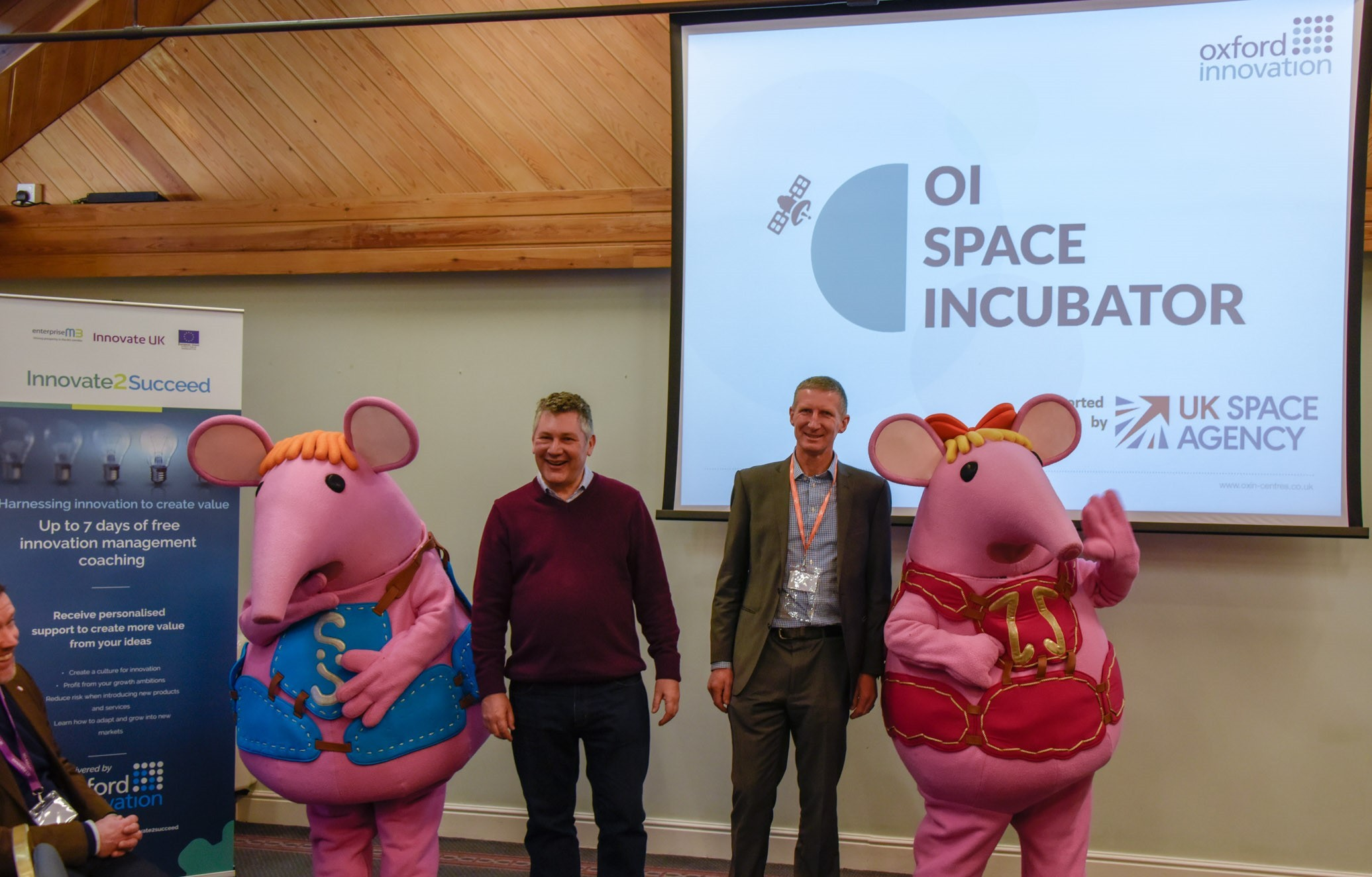 (From left to right) Oxford Innovation's Richard May with Mark Stileman, the Thought Leadership and Bid Manager for Ordnance Survey at the launch of the programme