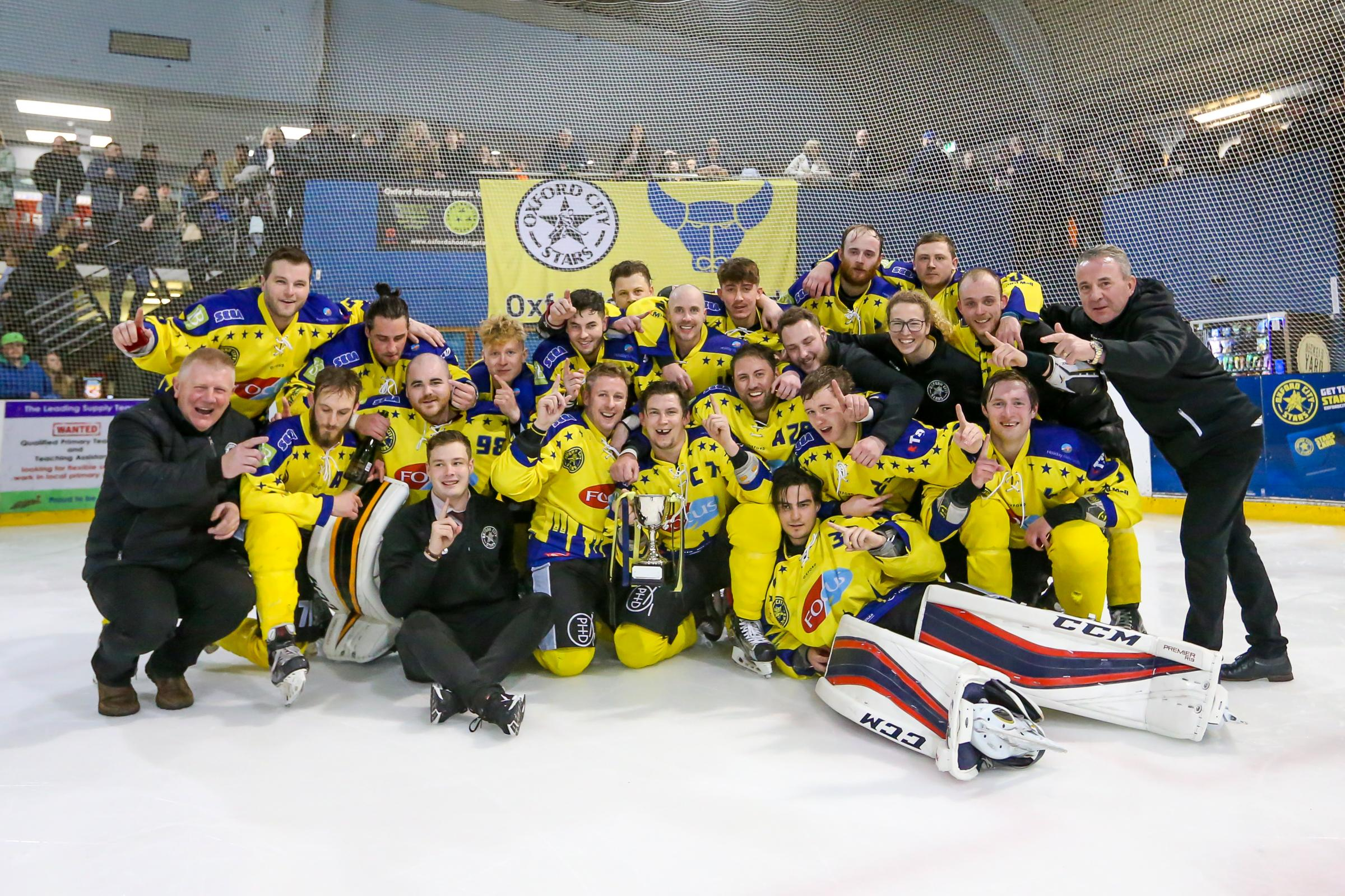 CHAMPIONS: Oxford City Stars celebrate winning the league title this yearPicture: Paul Foster