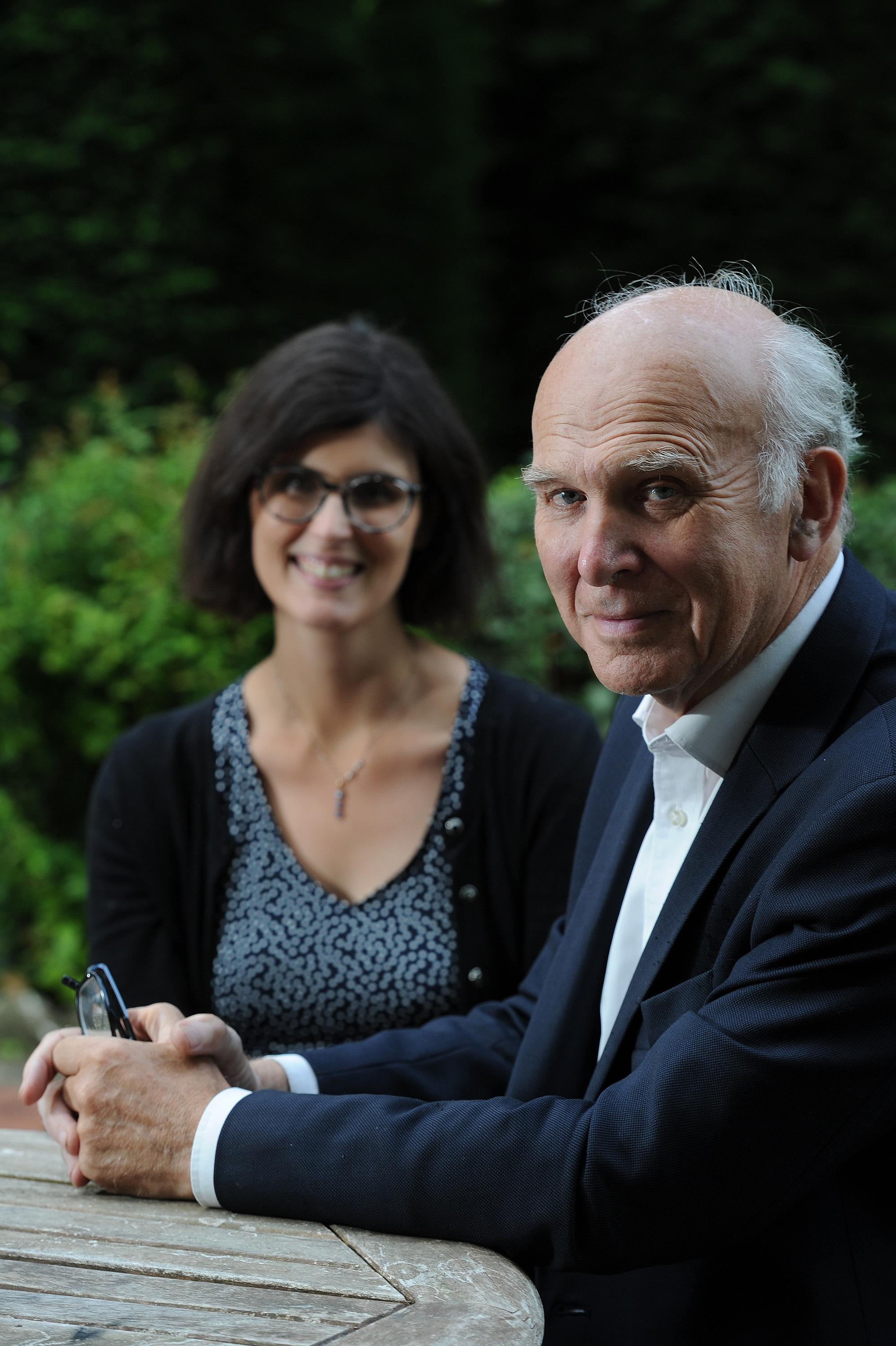 Leader of the Lib Dems, Sir Vince Cable, with Oxford West and Abingdon MP Layla Moran in Abingdon last year. Pic by Jon Lewis