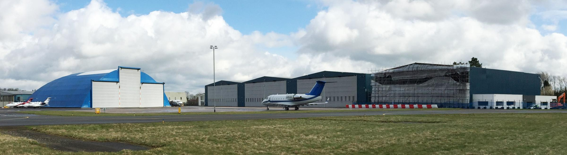 New hangars at London Oxford Airport. Pic London Oxford Airport