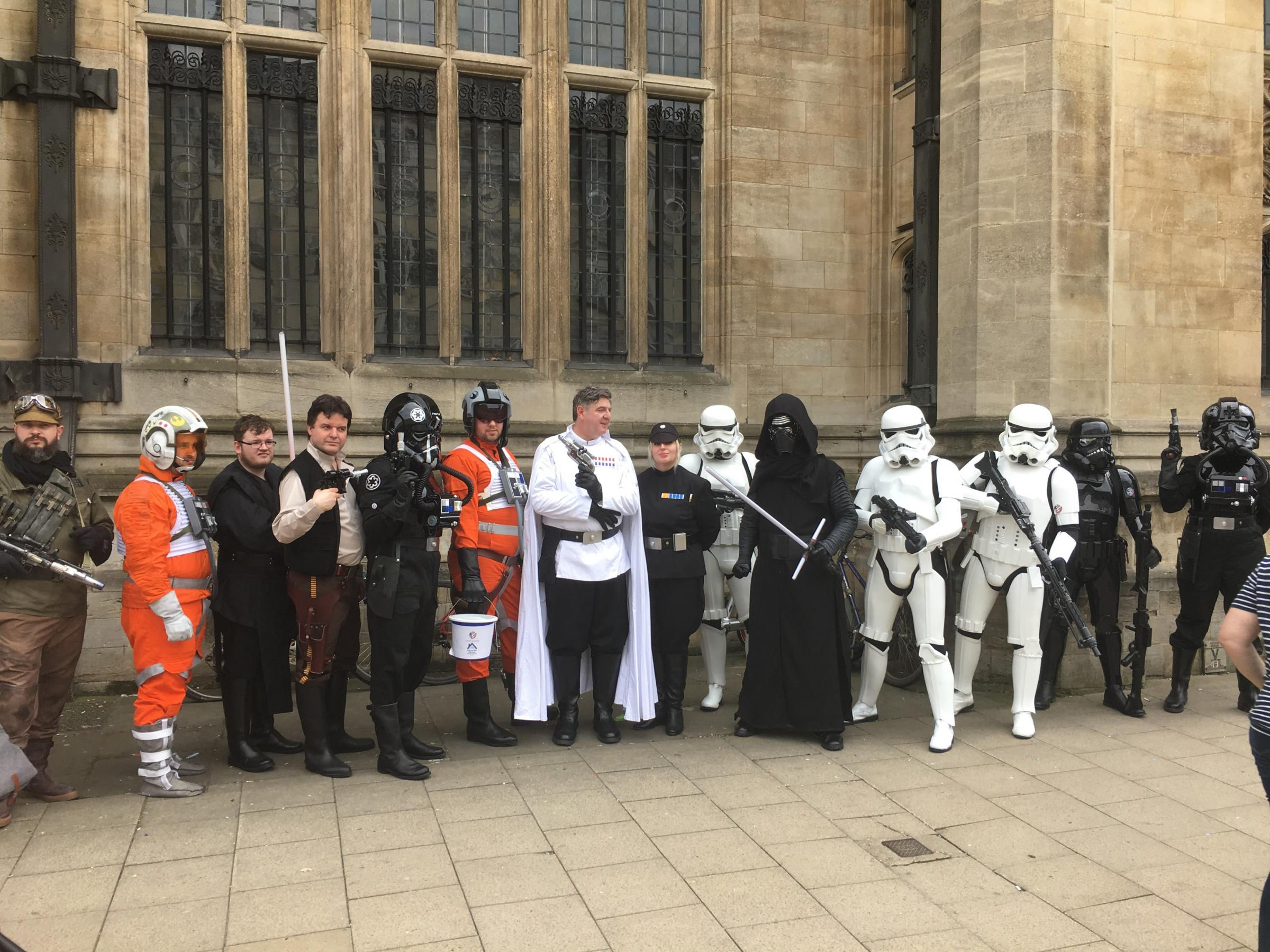 Oxford Comic Con visitors gather in High Street