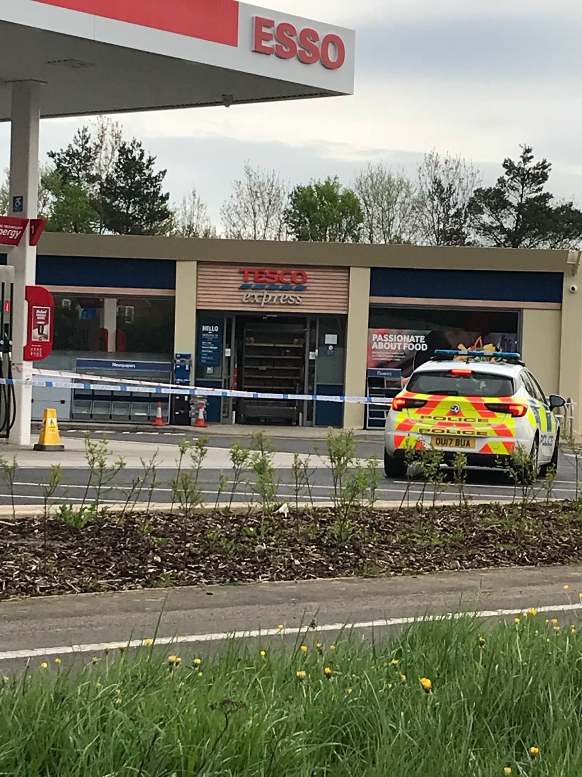 Police cordon set up at A40 petrol station