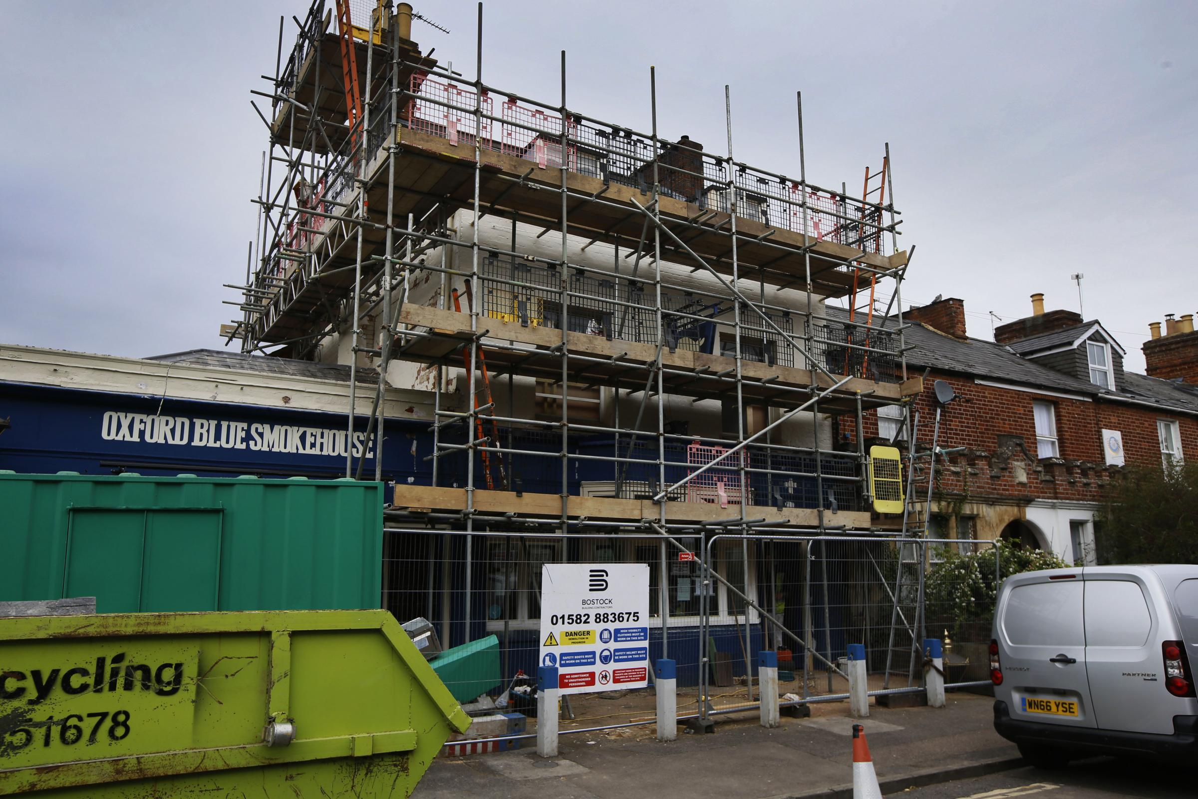 Construction work under way on the former Oxford Blue Smokehouse in Marston Street. Picture: Ed Nix