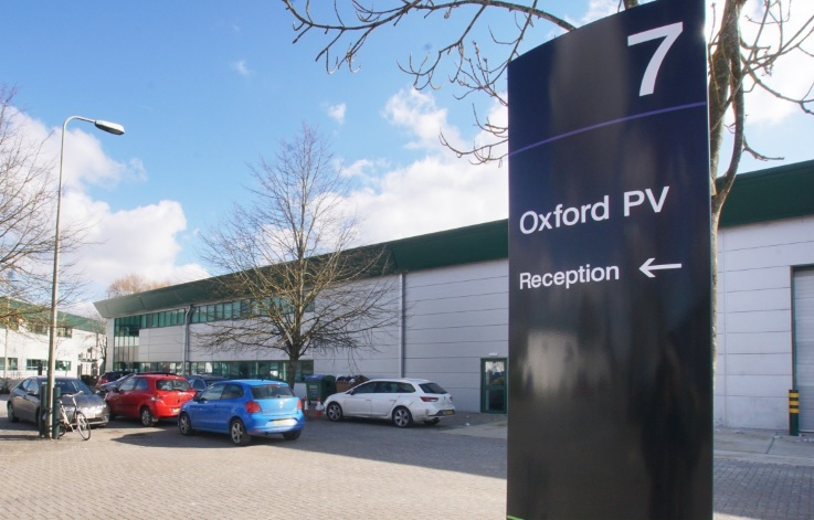 Oxford PV headquarters at Oxford Industrial Park, Yarnton