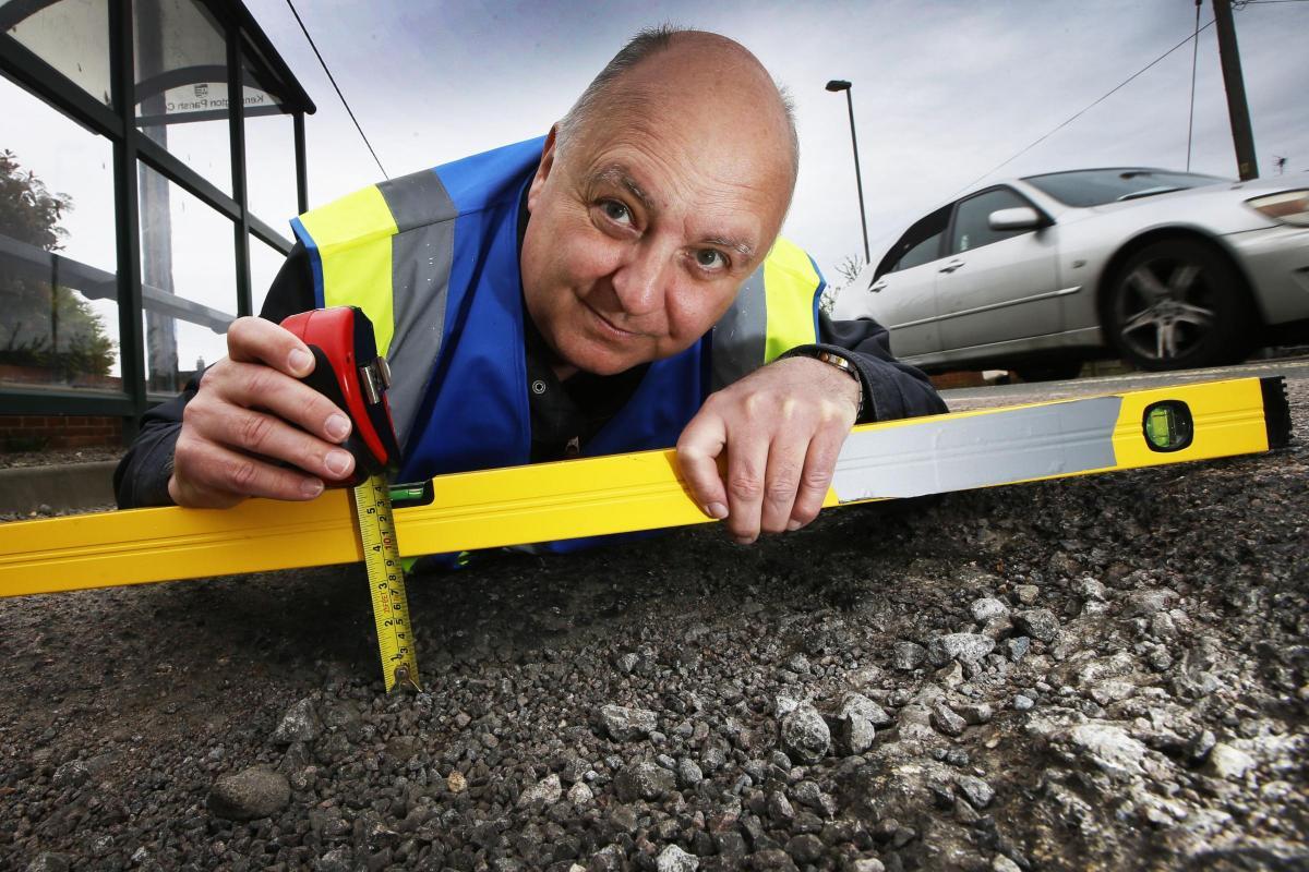 Mr Pothole campaigns against potholes