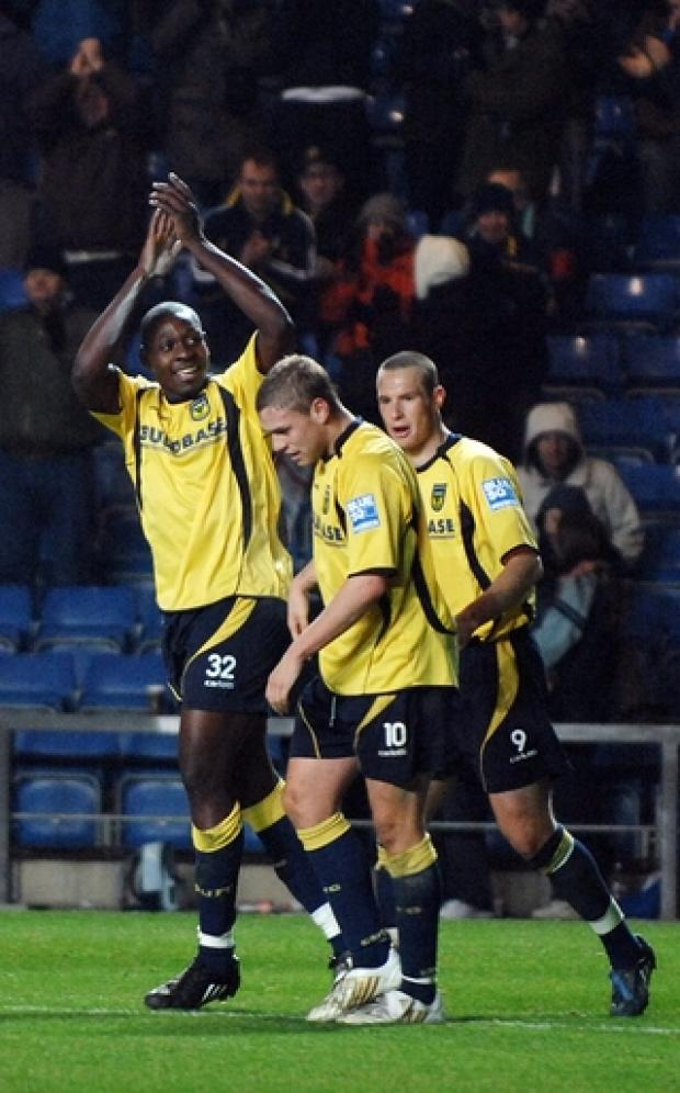 Oxford Mail: Ricky Sappleton celebrates scoring on his United debut