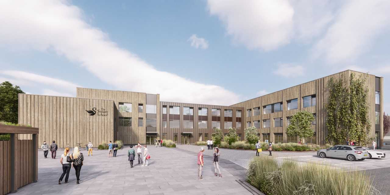 Drawings of Oxford's new Swan School. Pic: Pic: Infinite 3D Ltd/ Galliford Try