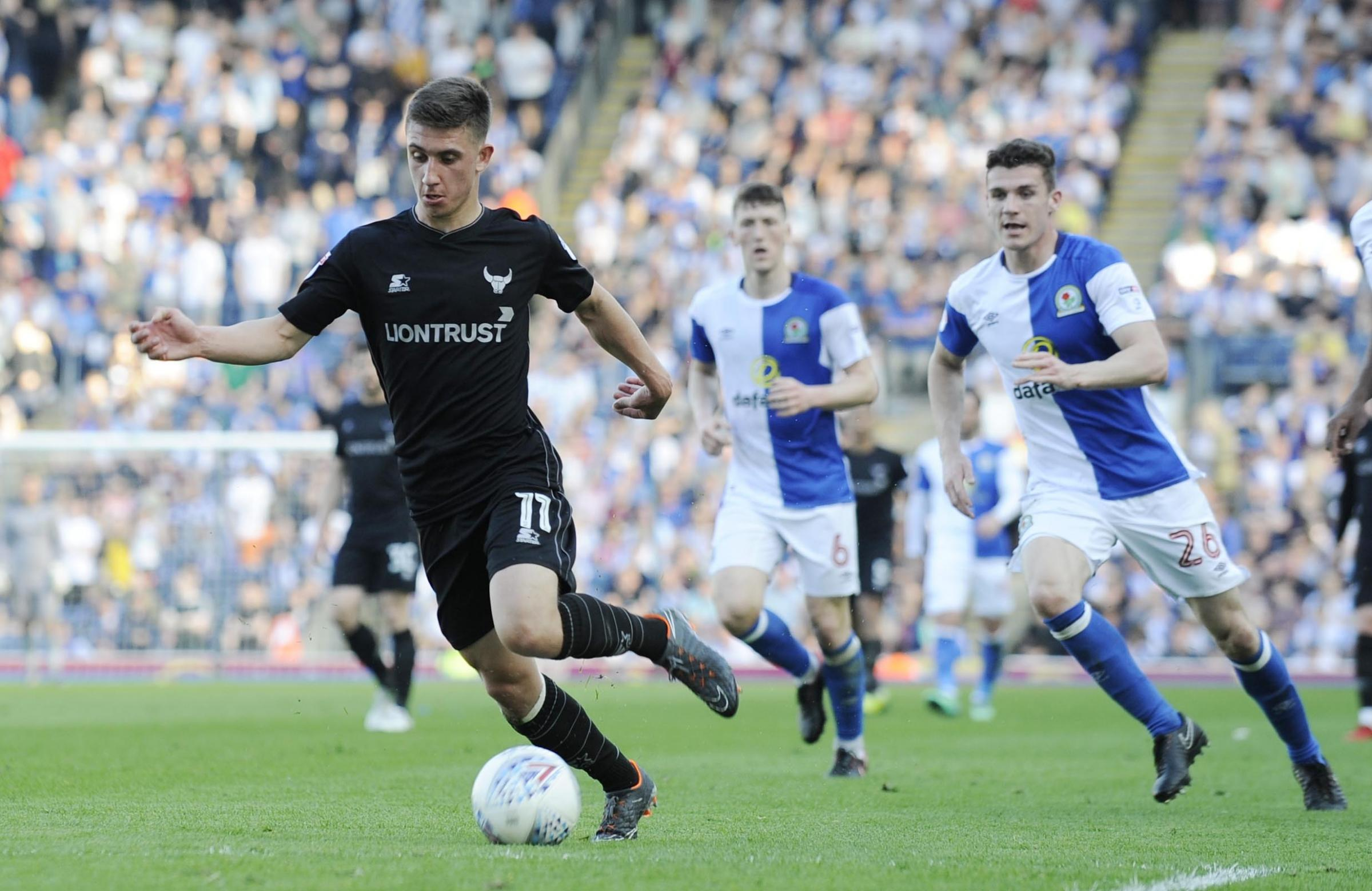 FINDING HIS FEET: Cameron Brannagan, in action at Blackburn on the final day of the season, believes he hasplenty more to offer at Oxford United Picture: David Fleming