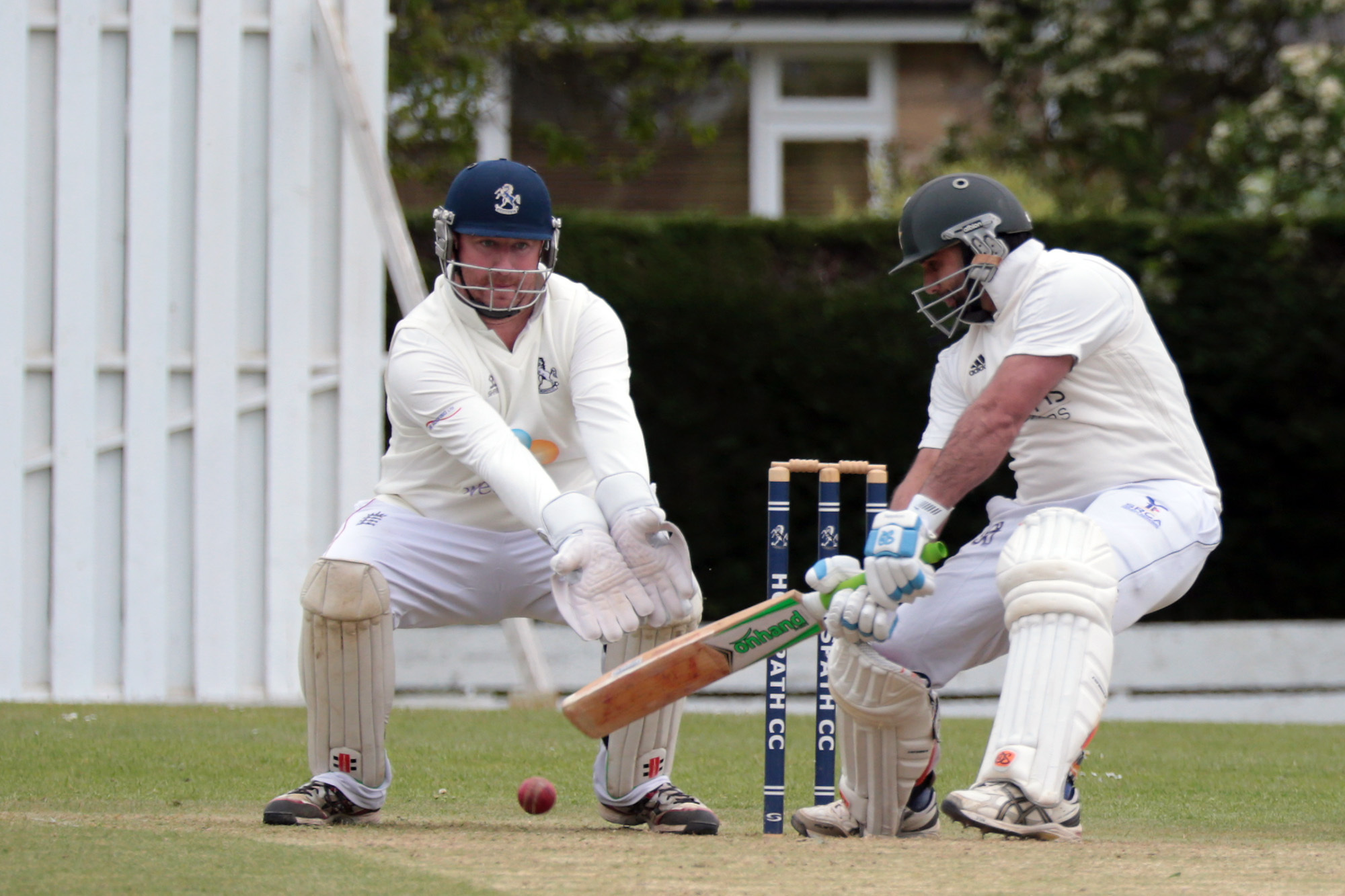 IN THE RUNS: Century-maker Muhammad Ayub adds to his total during Oxford's Division 1 clash with Horspath, which was stopped after heavy rain arrived in the afternoon Picture: Ric Mellis