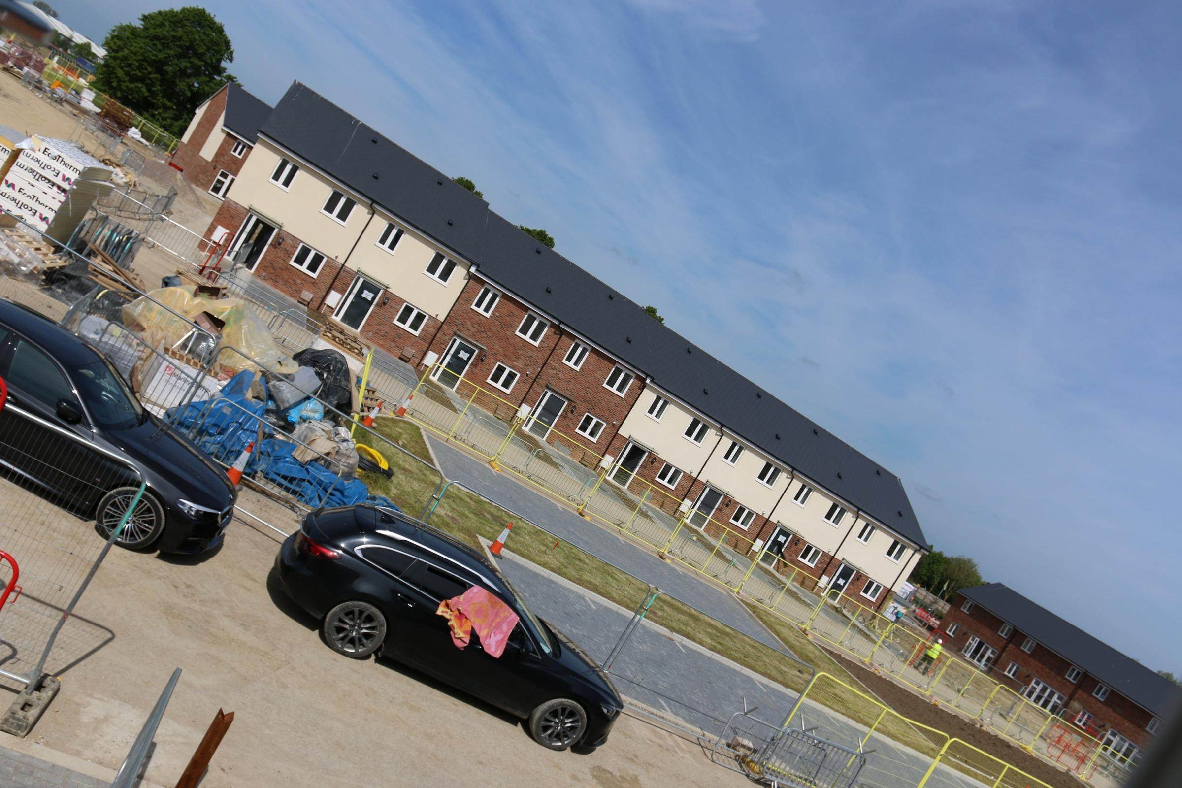 One of the blocks of affordable homes at Graven Hill which will soon be taken ownership by Bromford