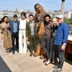 Oxford Mail: The cast and crew of Solo: A Star Wars Story (left to right) Thandie Newton, Ron Howard, Phoebe Waller-Bridge, Alden Ehrenreich, Chewbacca, Donald Glover, Emilia Clarke and Woody Harrelson (Matt Crossick/ PA)