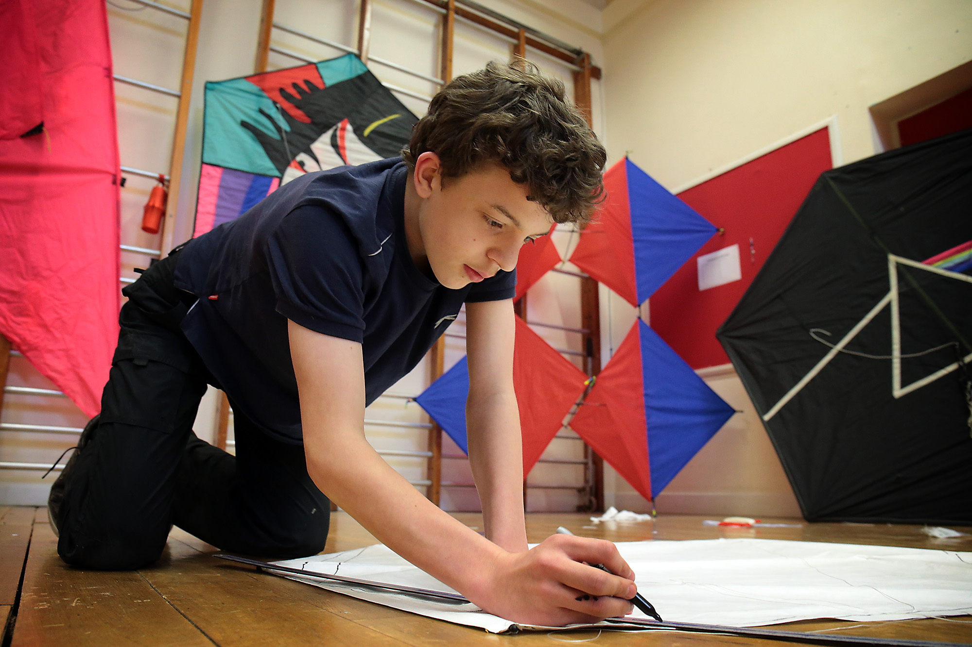 File photo of Aidan Luck, 14, at an OYAP kite-making masterclass in Bicester. Picture: Ric Mellis