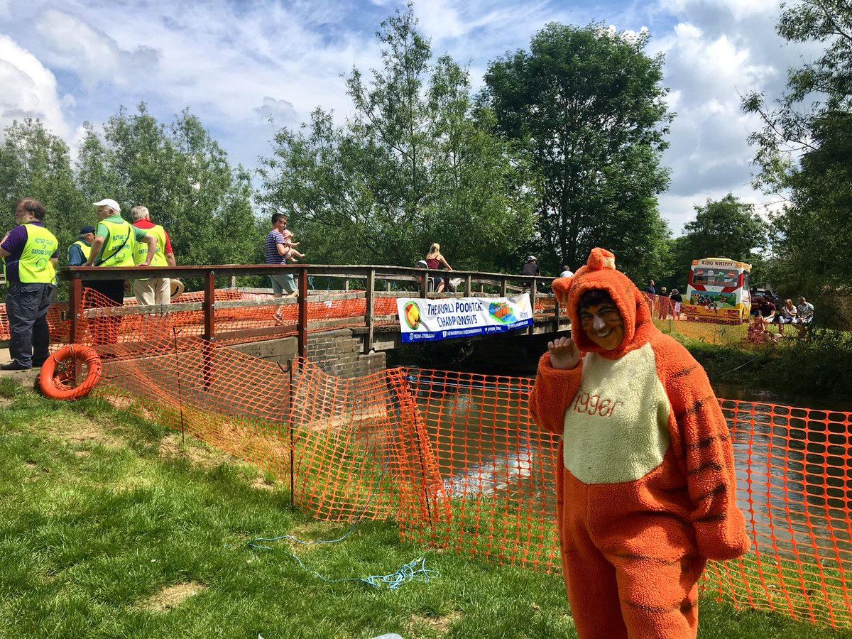 Gillian Pearce as Tigger at today's Poohsticks competition