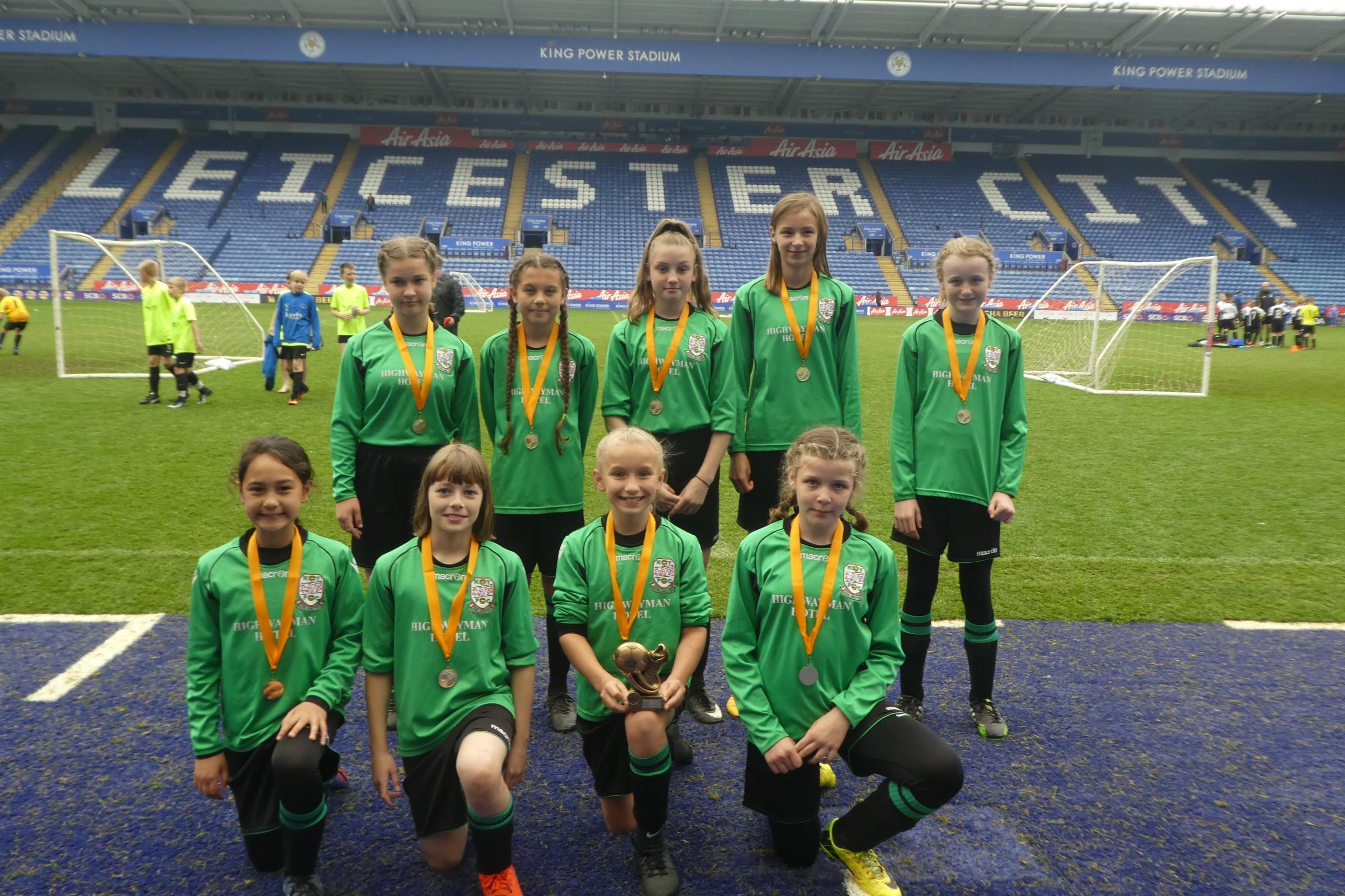 The successful Kidlington squad at Leicester City