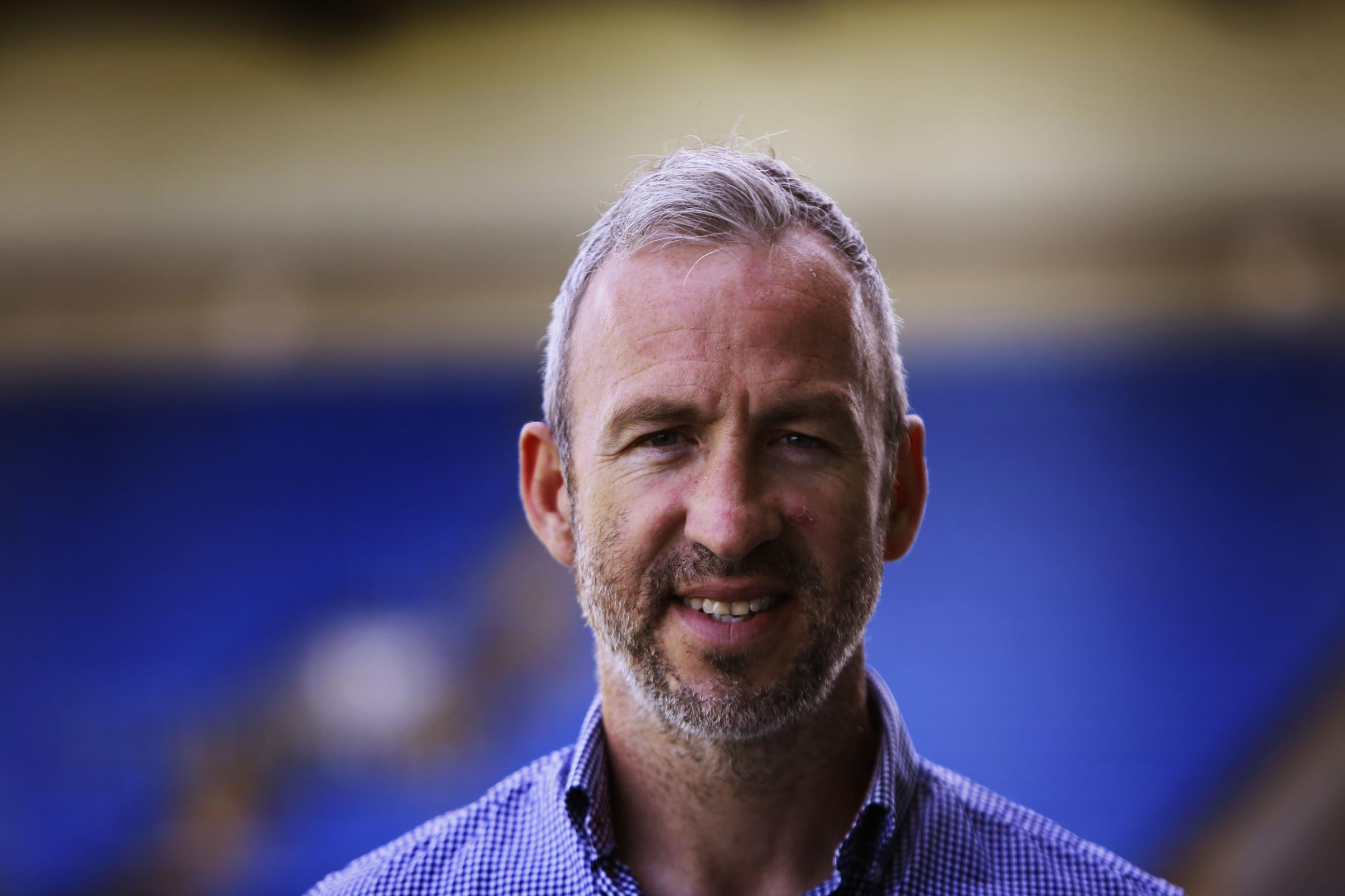 Shaun Derry at the Kassam Stadium this afternoon  Picture: Ed Nix