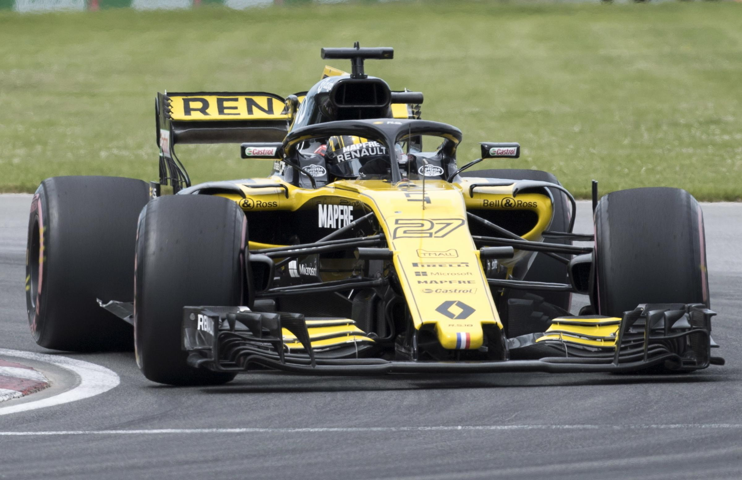 Renault driver Nico Hulkenberg of Germany drives through the Senna corner at the Canadian Grand Prix  Picture: Graham Hughes/The Canadian Press (via AP).