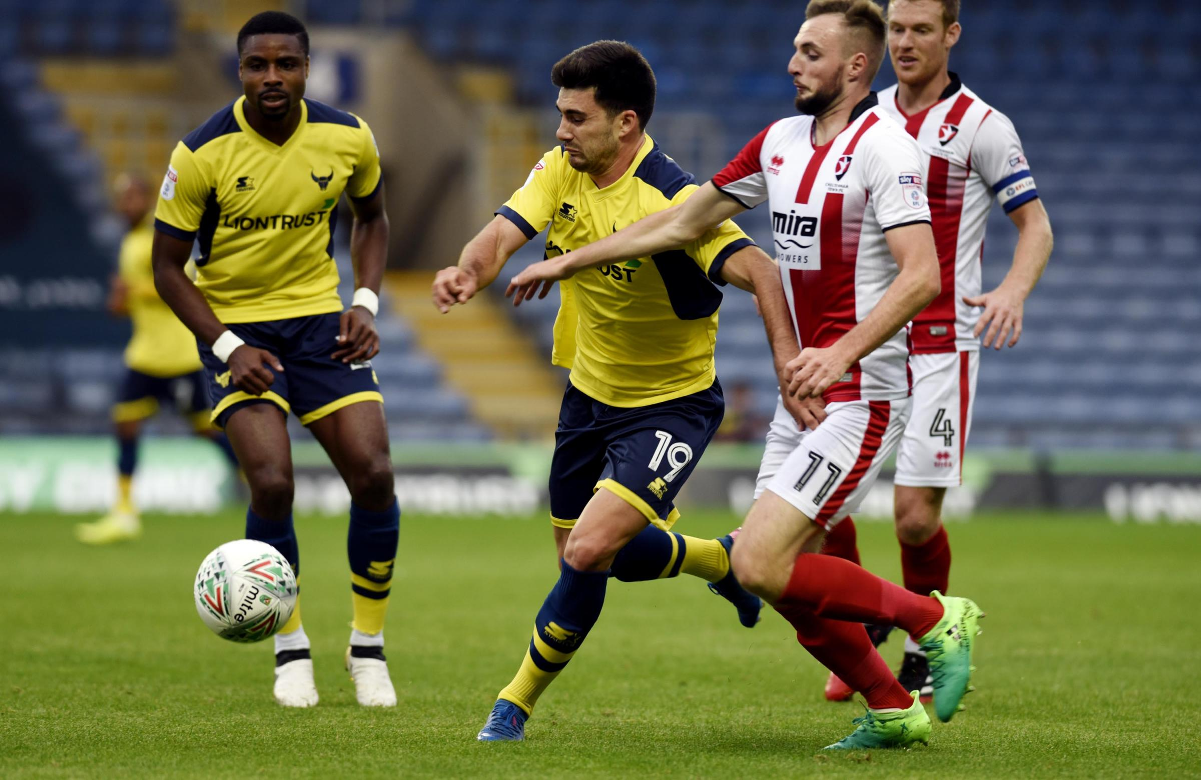 Oxford United lost to Cheltenham Town in last season's Carabao Cup first round