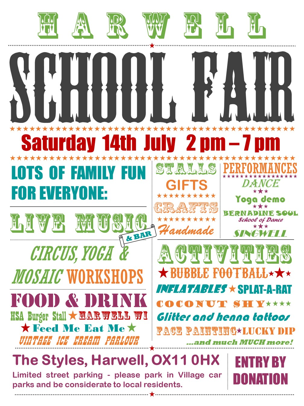 Harwell Community Primary School Summer Fair