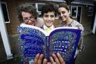 From left author Kate Clanchy with Oxford Spires Academy pupils Mohamed Assaf and Asima Qayyum. Picture Ed Nix