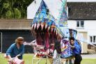 Local artist Mani Manson has been working with pupils from the Chilworth House School for their Cowley Carnival float gear, which will include this year a replica of the Headington Shark. 