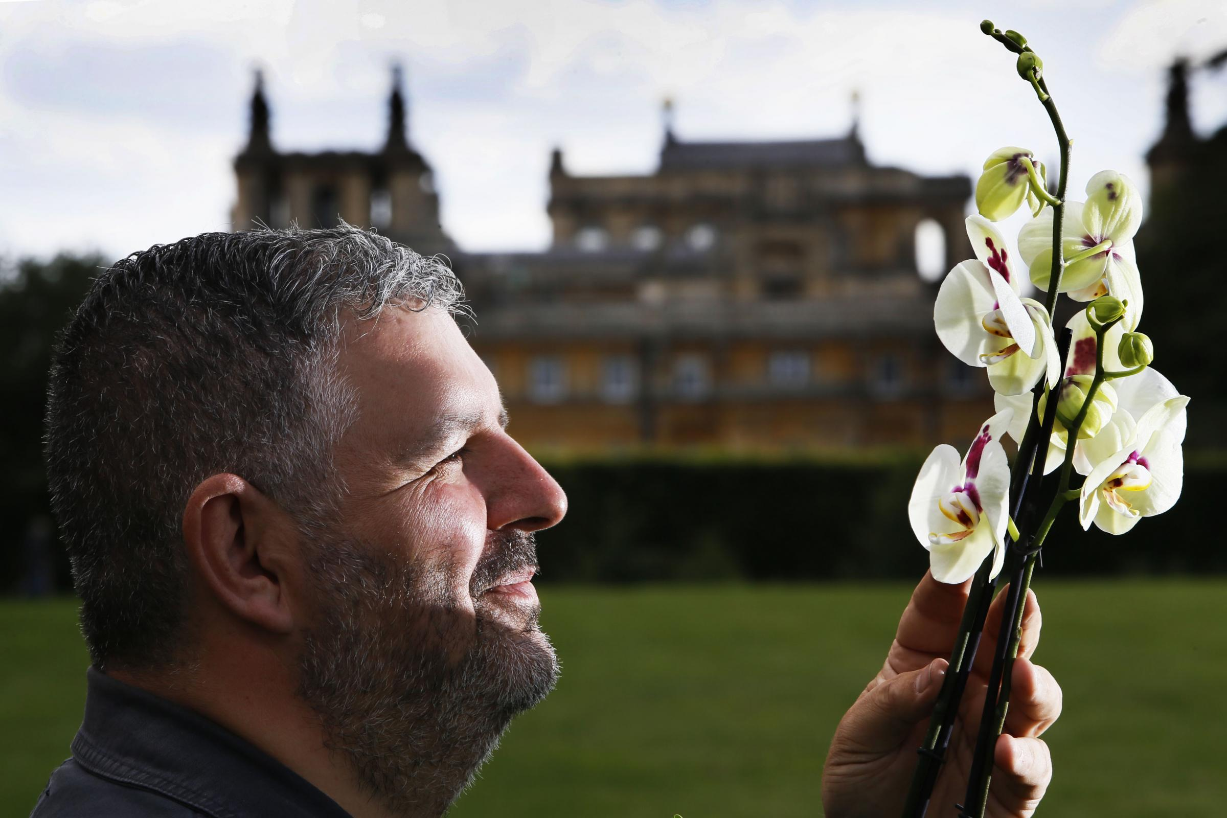 The Blenheim Palace Flower Show 2018Setting up shots before the show opens tomorrow (Friday the 22nd of June).Pictured here is show organiser Mig Kimpton.21.6.2018PICTURE BY ED NIX
